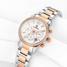 Women's classic fashion strip with diamond multi-function watch VINOCE luxury brand waterproof style  quartz watch