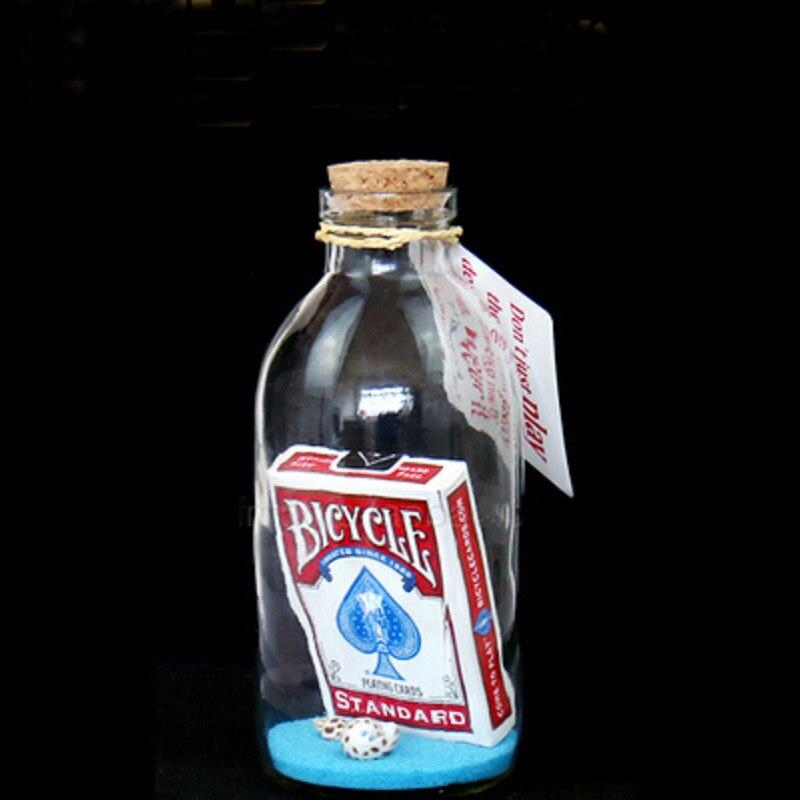 Carte magique en bouteille dérive souhait bouteille (pas des tours de magie) pour les décorations