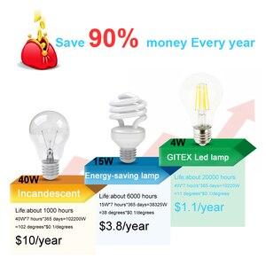 Image 5 - Lampada E27 LED Filament Light Dimmable Glass Blub Lamps 220V LED Edison chandelier E14 G45 240V Vintage Led Bulb 4W 8W 12W