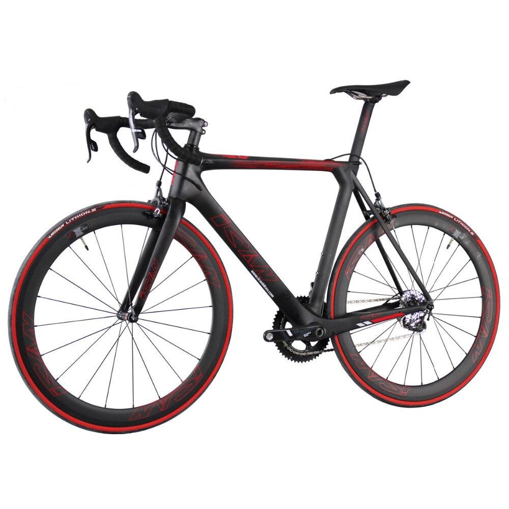 2016 nouveau vélo de route complet en carbone avec groupes de force UD finition mate vélo de route de course 50/52/54/56/58 cm