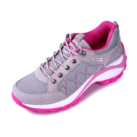 Sneakers Women Luxury 2016 Spring Summer Lightweight Mesh Sneakers Gray Red Low Price Running Shoe Walking