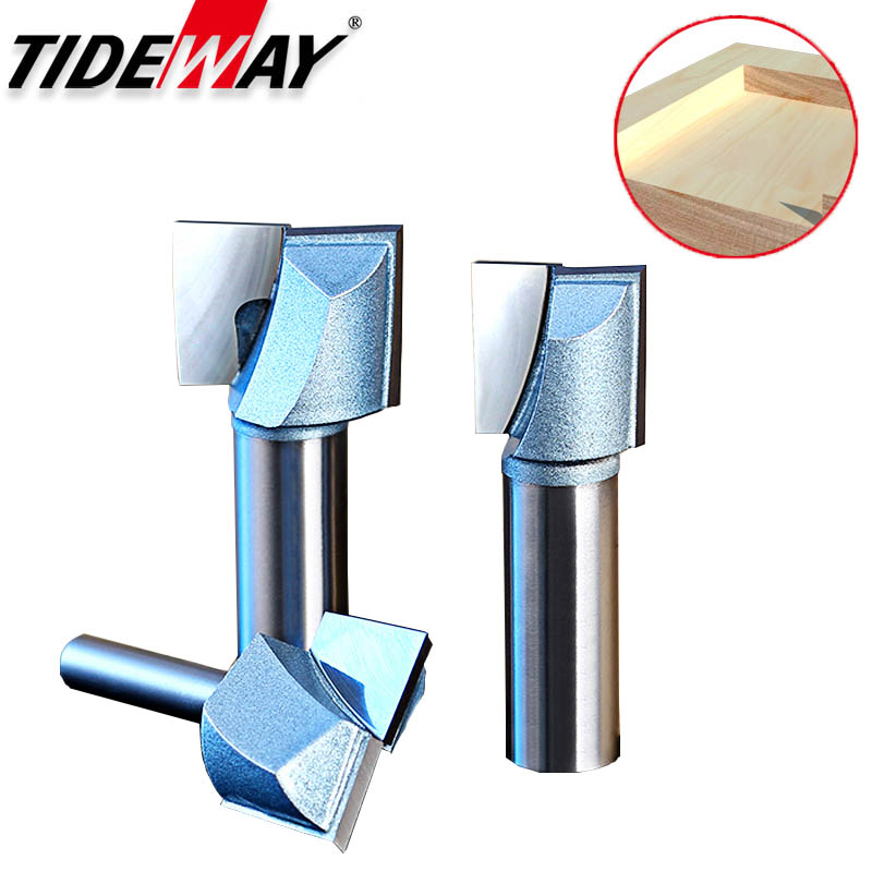 Tideway Industrial Grade Woodworking Clearing Bottom Router Bits Trimming Wood Engraving Milling Cutter Slotting CNC Tool Bits