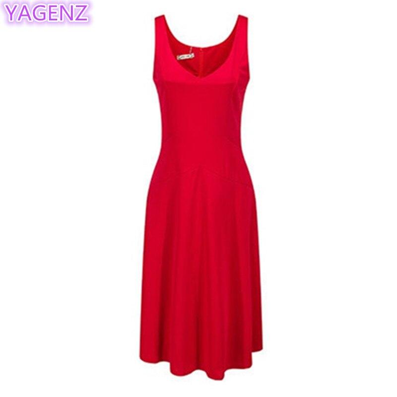e688c4a4873 YAGENZ летнее платье женская одежда узкие модные белое платье Большие  размеры женские платья V воротник большой