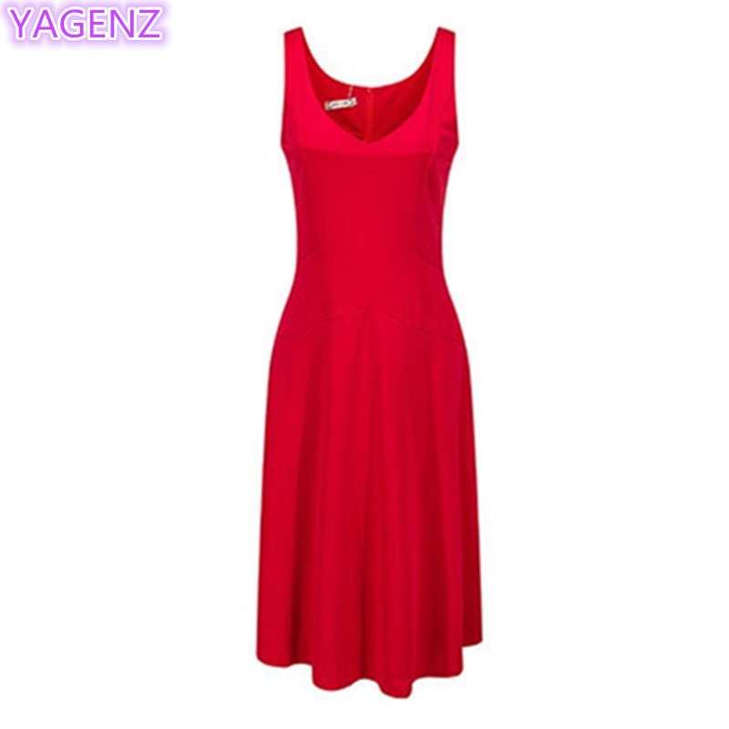 YAGENZ Summer font b Women s b font font b Clothing b font Dress Slim Fashion
