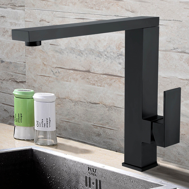 Smesiteli Wholesale 5 Year Warranty Solid Brass Matte Black Kitchen Swivel Spout Single Handle Sink Faucet Spray Mixer Tap