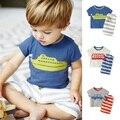 Verano Para Niños marca Niños Que Arropan el sistema 100% Algodón de manga corta Camisetas + Shorts Niños Bebés Ropa Set 1-6 Años de Los Niños Traje