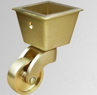 Brass Universal Wheel Caster Piano Heavy Foot Casters Wheel Diameter 32mm