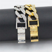 ... Uodesign Men s Luxury Rhinestone Fashion Bracelets   Bangle High Quality  Gold Silver Color Iced Out Miami d3776101d941
