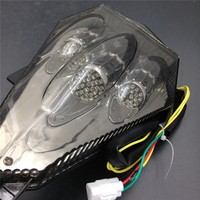 Aftermarket free shipping Motorcycle Led Tail Light For 2006 2013 Yamaha Yzf R6 Yzf R6 SMOKE