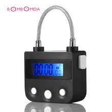 Electronic Bondage Lock Timing Switch BDSM Fetish Handcuffs Mouth Gag Chastity Device Timing Lock Adult Games Couples Sex Toys