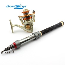 Big sale MINI fishing rod Portable Foldable Travel Spinning Fishing Rod Carbon with 150Series Sea Fishing Reel Rod Combo Fishing Set