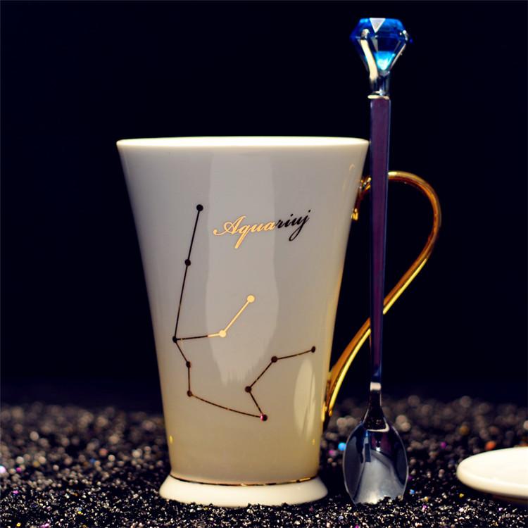 Creative Constellation Bone China Coffee Cup Valentine's Day Gift