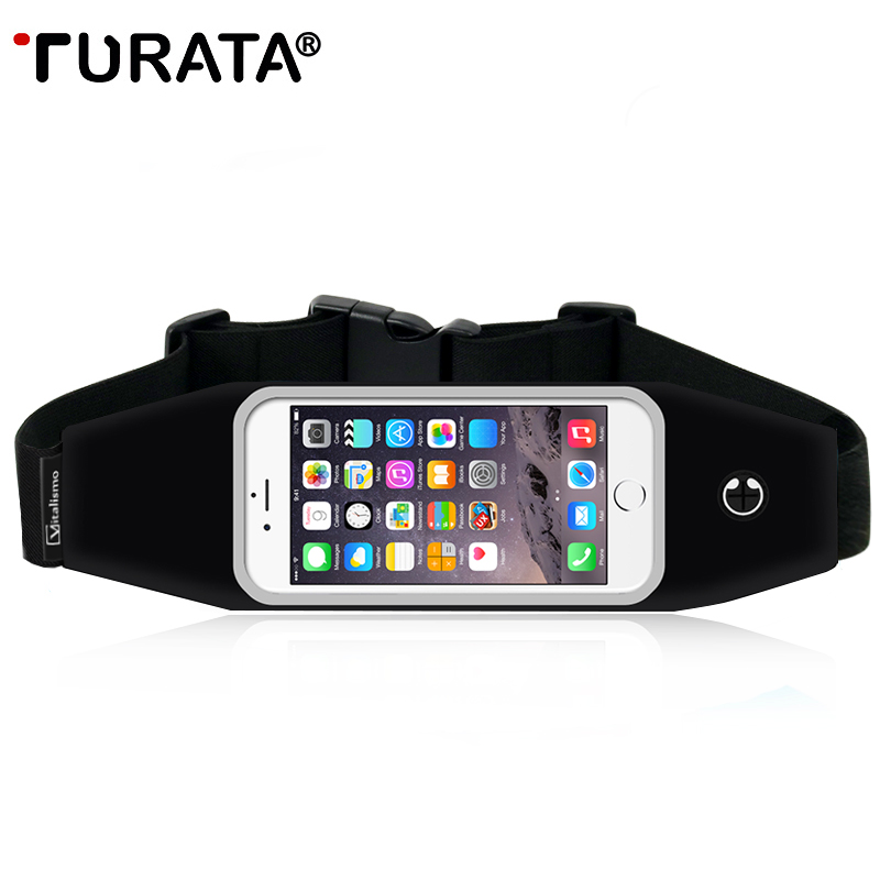 TURATA Universal <font><b>Waterproof</b></font> Sport GYM Waist <font><b>Bag</b></font> <font><b>Phone</b></font> <font><b>Case</b></font> For iPhone 6 6S Plus SE 5 Outdoor Workout Running Pouch Accessories
