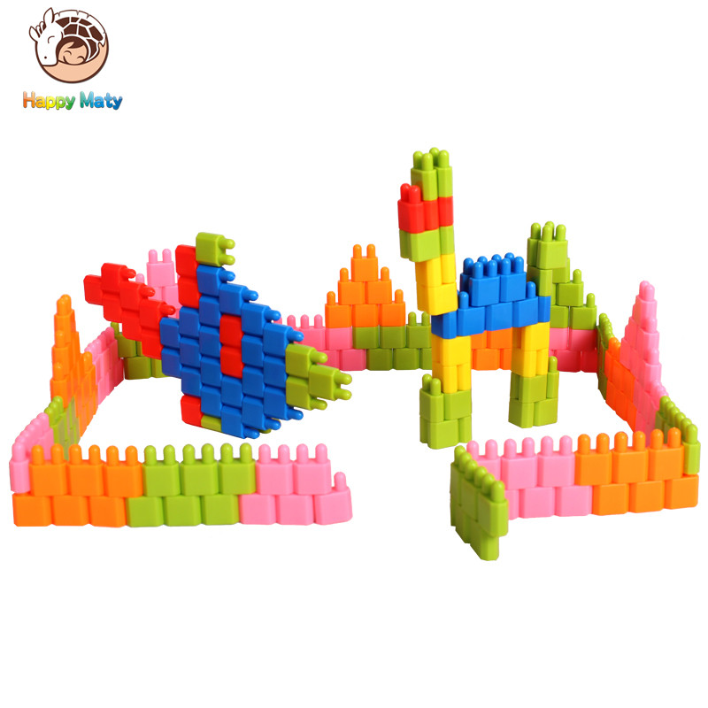 250Pcs Fashion Plastic Bullet Building Blocks Kids Baby Educational Toys for Boys and Girls Children Christmas Gift