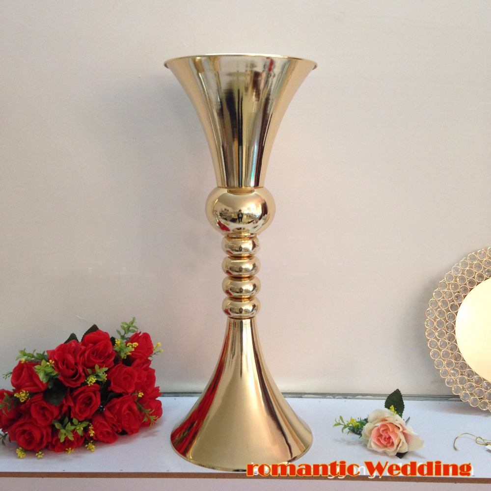 65cm H Gold Flower Stand Wedding Flower Vase Table