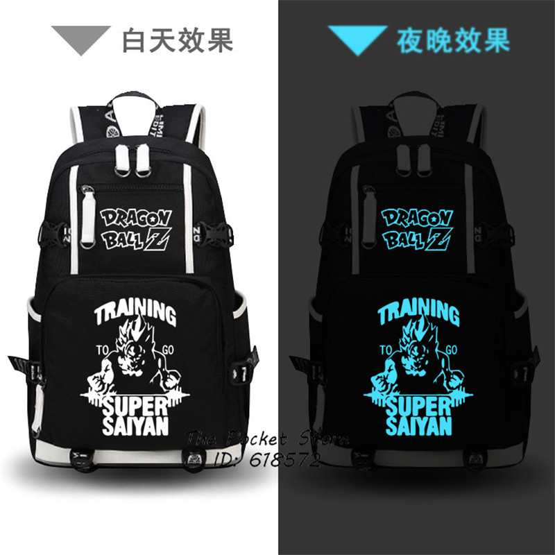 Dragon Ball Super SAIYA Son Goku Luminous Printing Backpack Men Travel Bags Canvas Oxford School Bags Laptop Backpack Anime Bags northmarch brand ankle snow boots men shoes genuine leather winter fashion cow motocycle casual boot male high top flat botas