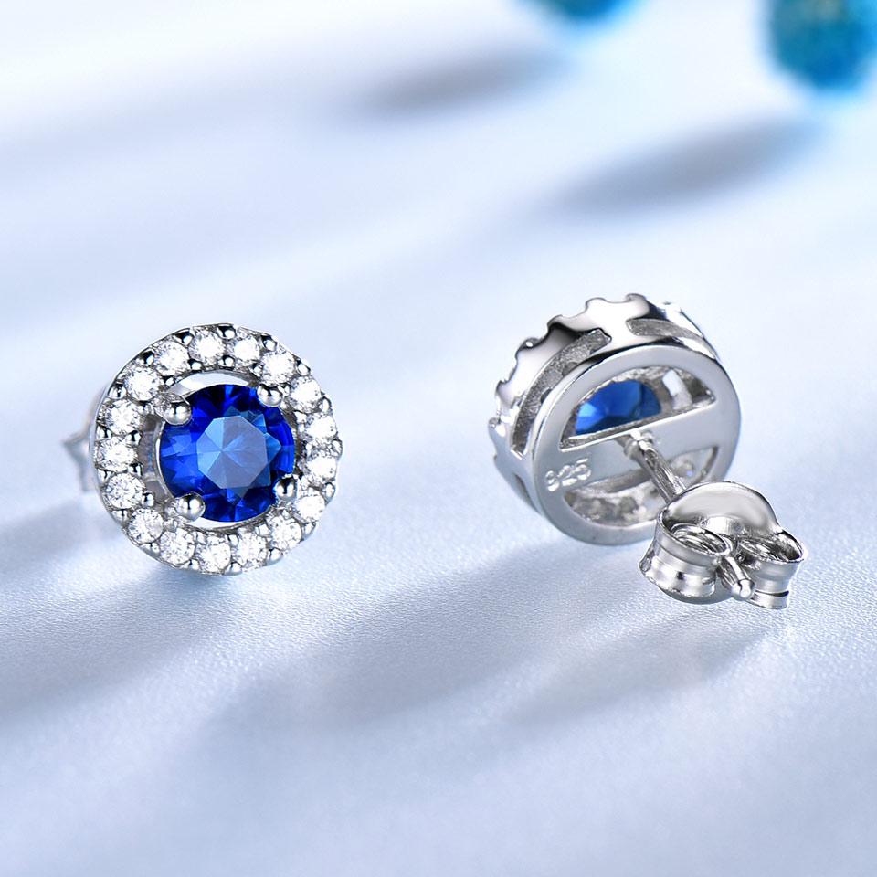 UMCHO echte 925 sterling zilveren sieraden ronde rijke kleur Nano - Fijne sieraden - Foto 3