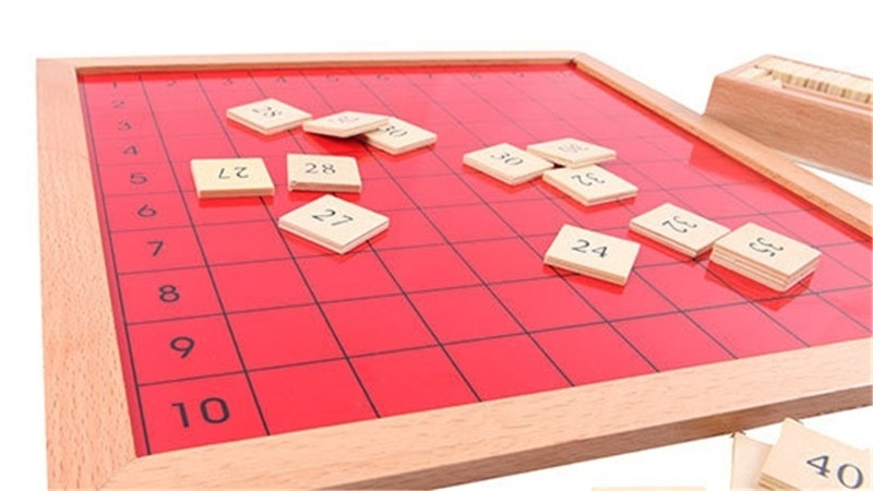 New Wooden Baby Toys Montessori Pythagoras Board Learning Educational Preschool Training Baby Gifts