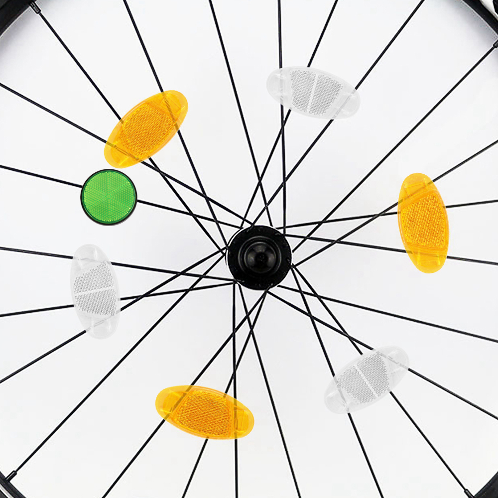 bicycle spoke reflector warning light bicycle wheel reflective rim Safety A5V8