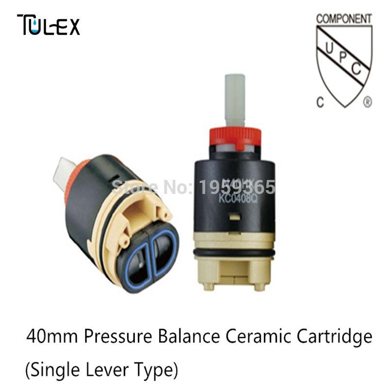 TULEX 40MM Pressure Balance Ceramic Disc Faucet Cartridge