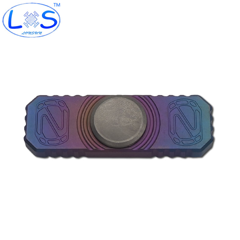 ФОТО 2017 Titanium alloy Hand Spinner High quality pure EDC Hand Spinner rotation Autism ADHD