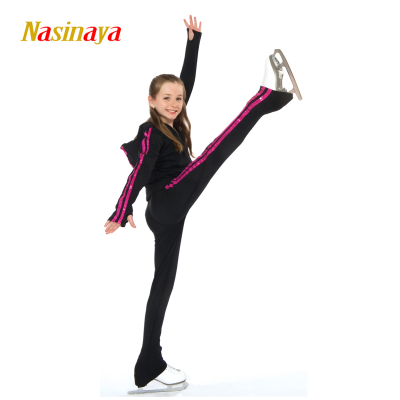 цена  Customized Clothes Ice Skating Figure Skating Suit Hoodie Jacket And Pants Rolling Skater Warm Fleece Adult Child Girl Pink  онлайн в 2017 году