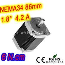 Нема 34 шагового двигателя 34HS46-4208S L116 мм с 1.8 град. шагового угол ток 4.2 А крутящий момент 6 n. см и 8 провода