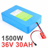 US EU no tax 36v 30Ah 1500w Lithium Battery Pack with Built in 60A BMS Electric Bicycle Battery 36v Free Shipping