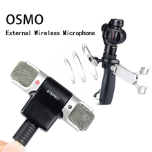 Professional Stereo External Microphone Dual Wireless Mic Recording with Very Low Noise for DJI Osmo Handheld Gimbal