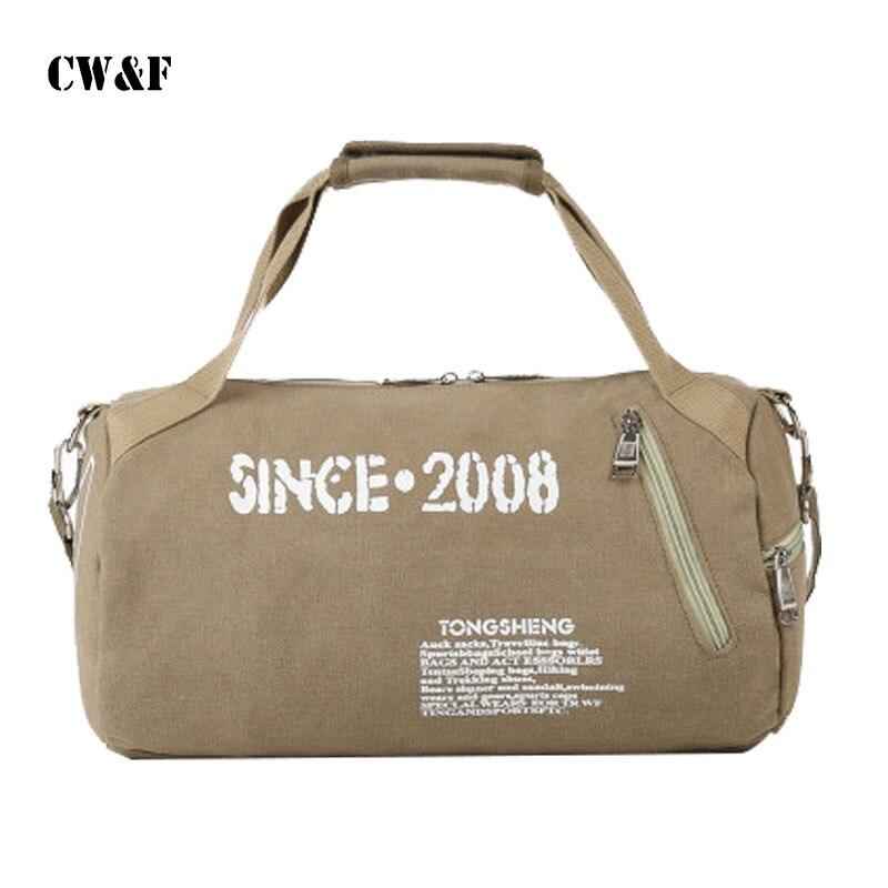 Canvas bag men and women shoulder portable cylinder