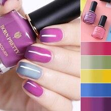 BORN PRETTY термальный лак для ногтей 6 мл меняющий цвет при температуре лак для ногтей долговечный маникюрный лак для ногтей