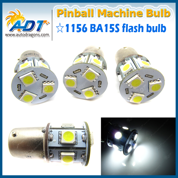 100PCS Flashers #89 Pinball led 13V AC Ba15s 1156 Warm White 4300K pinball machine Playfield