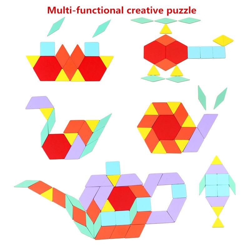 Puzzle en bois jouet multi-fonction jouet cognitif de bébé créativité illumination du début