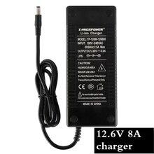 1 шт. лучшие цены 12,6 в 8А интеллектуальное литий-ионное зарядное устройство для 3 серии 12 В литий-полимерная батарея pack12.6V зарядное устройство