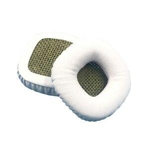 Image 4 - 1 ペアスポンジクッションメッシュ快適な耳パッド弾性革ヘッドフォンアクセサリー保護ソフトためマーシャル主な I II