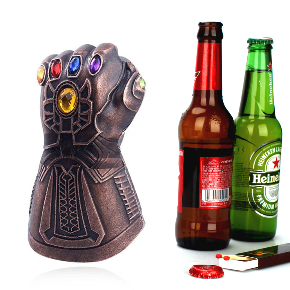Creative The Avengers Infinity Thanos Gauntlet Glove Beer Bottle Opener Zinc Ally Soda Glass Caps Remover Tools For Kitchen Bar