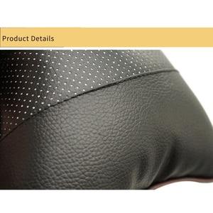 Image 3 - Protection du cou de voiture noire en PU, appui tête de voiture, appui tête de voiture, pour voyage, moto, accessoires pour BMW Auto