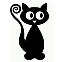 Atacado 10 pçs/lote 20 pçs/lote Gato Dos Desenhos Animados do Dia Das Bruxas Para Carros de Caminhão Traseiro Windshield Auto Porta Janela Die Cut Vinyl Decalque Do Carro