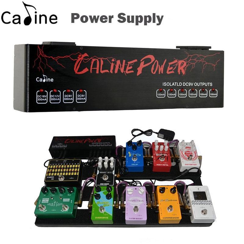 New Caline Guitar Effect Pedal Power Supply Ten Isolated Outputs (9V, 12V, 18V) Voltage Protection Guitar Accessories хай хэт и контроллер для электронной ударной установки roland fd 9 hi hat controller pedal
