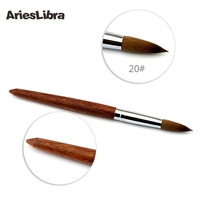 5pcs/set 20# 100% Konlinsky Sable Acrylic Nail Art Builder Brush Spiral Gel Pen Tips Tool Set Kit Professional Nail Tools