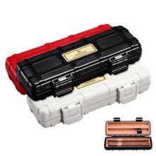free ship black white red Cigar Humidor Travel Portable Box case 2 sticks cigar packets CL-082