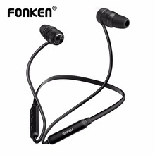 FONKEN wireless bluetooth earphone sport in-ear earbuds magnetic stereo running earpiece with Mic earphones for phones