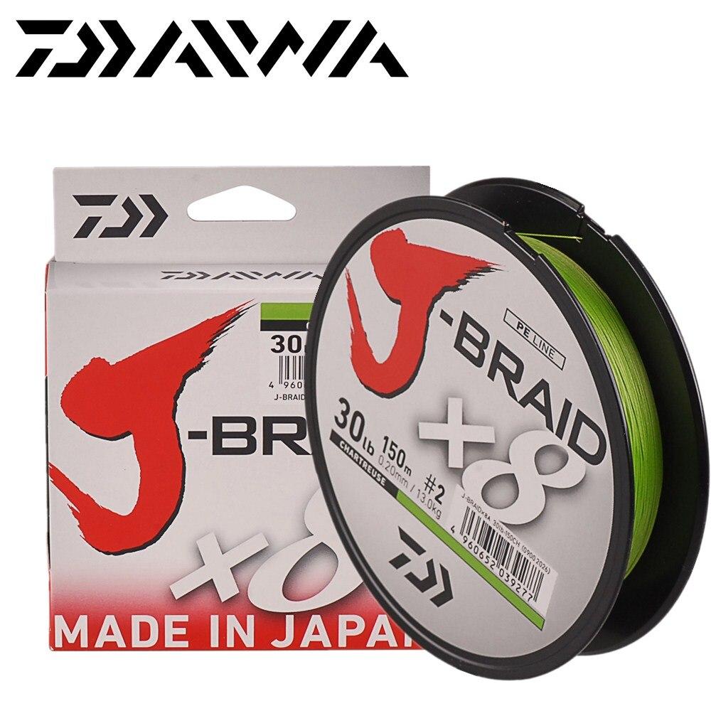 J-Braid Daiwa Fishing Line x8 Chartreuse 14Lb 6.5Kg 150m 0.10mm Braid