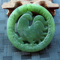 Beautiful Hetian Stone Carving Chicken Pendant Fashion Lucky Necklace Pendant Jewelry Wholesale