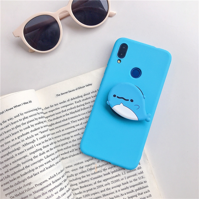 3D Cartoon Silicone Phone Standing Case for Xiaomi And Redmi Phones 26