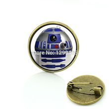 Time-limited 2017 Sale Pin Brooches Glass Round Jewelry Wars Movie New Republic Brooch Art Photo Dome Pins C558