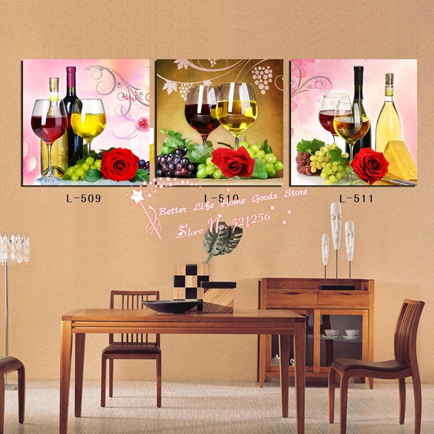 Botellas de vino de la pintura compra lotes baratos de for Cuadros cocina decoracion