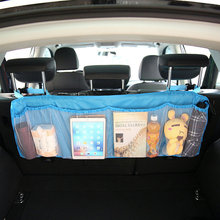 Huihom Car Seat Back Storage Bag Net Pocket Rear Trunk Cargo Organizer 110*34cm 43*13 Automobile Stowing Tidying Accessories