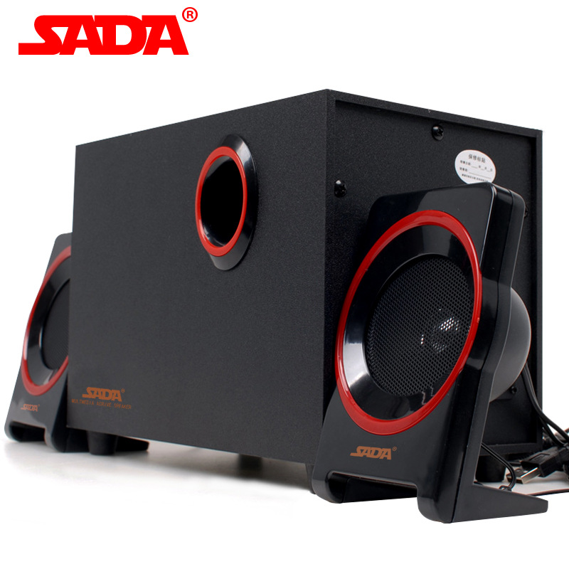 SADA SL-8018 Multimedia PC Wooden Speaker USB 2.1 Smart Phone Portable Surround Subwoofer Computer Speakers for Notebook Laptop laptop speaker for dell xps l502x l501x left and right set subwoofer speakers