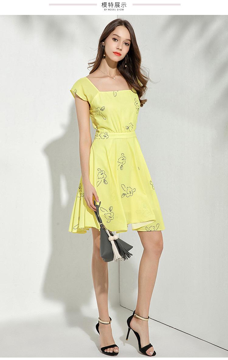 a3e9653c0b353f2 Звезда Стиль желтый с принтом летнее платье роковой ете 2018 Для женщин  пляжное платье Vestidos De Verano Sukienka Damska D1089